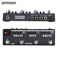 Ammoon POCKMON Multi-Effects Guitar Effect Pedal With Tuner Delay Loop FX W4E9