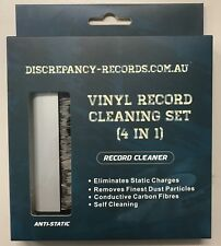 Discrepancy Records LP Vinyl Cleaning Kit Anti-Static Carbon Fibre Brush, Stylus