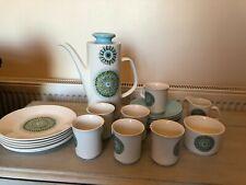 More details for vintage j&g meakin aztec coffee set - 21 piece