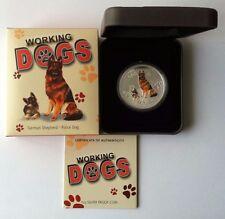 2011 $1 Working Dogs German Shepherd 1oz Silver Proof Coin