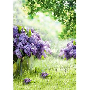 Purple Flower Garden Photography Background Art Photo Backdrop