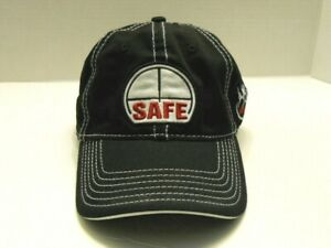 Mens SAFE hat baseball cap black adjustable strap