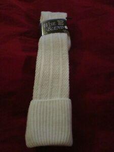 1 Pair Wise Blend 20% Merino Wool Womens Knee High Boot Socks 6-9 1st Quality