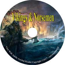 52 RARE Books on DVD, Stories & History of Vikings & Norsmen, Scandinavia, Ships