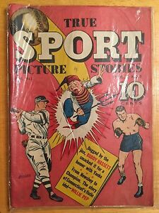 TRUE SPORT PICTURE STORIES (v2) #1 Gold Age (1943)