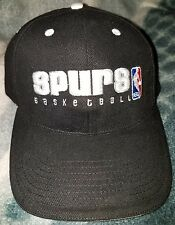SAN ANTONIO SPURS *AUTHENTIC* NBA Black Velcro Adjustable Hat/Cap *NEW*FREE SHIP