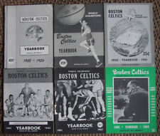 *RARE LOT OF (6) BOSTON CELTICS YEARBOOKS 1958 SEASON THROUGH 1965*