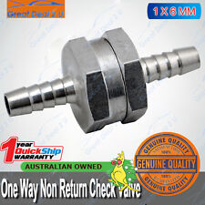 "Aluminium 6mm 1/4"" Non Return One Way Fuel Line Check Valve Petrol Diesel Gas"