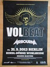 VOLBEAT-AIRBOURNE 2013 BERLIN  -  orig.Concert-Konzert-Poster-Plakat USED