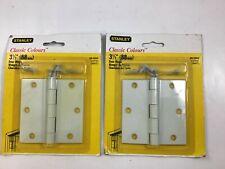 """Lot (2) Pieces Stanley White 3.5"""" Door Hinge 69-0264 CD741 New"""