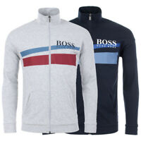 Hugo Boss Men's Premium Cotton Sweater Zip Up Sweatshirt Track Jacket