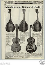 1933 PAPER AD Art New Model Crystaline Guitar Valencia Mandolin Lute Banjo