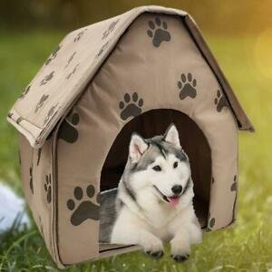 Foldable Pet Dog House Foldable Winter Warm Pet Kennel House for Dog Puppy Cat B