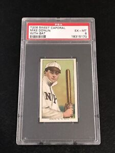 T206 Sweet Caporal Mike Donlin PSA 6 Tobacco Card New York