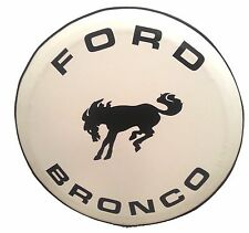 SpareCover® ABC Series - FORD BRONCO 27 WHITE Heavy Duty Vinyl Tire Cover