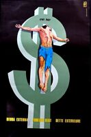 CRUCIFIED ON THE DOLLAR -  OSPAAAL ENRIGUEZ -  CUBA  POSTER  SCARCE ORIGINAL