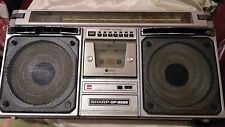 Vintage-SHARP-GF-8585E-Stereo-Boombox-Ghetto-Blaster SOME PARTS DON'T WORK