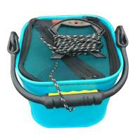 20 CM EVA Water Bucket with Rope Collapsible Bucket for Camping/Fishing (Blu 2P1