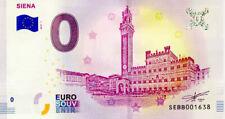 ITALIE Siena, Hôtel de Ville, 2019, Billet 0 € Souvenir