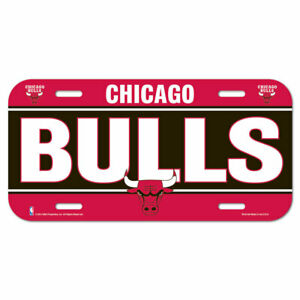 Chicago Bulls License Logo Plate Car Sign 11 13/16in NBA Basketball