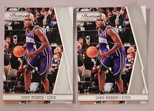 2010-11 Panini Prestige Chris Webber Kings #123 Basketball Card lot of 2