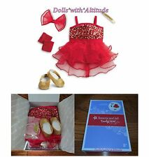 NEW American Girl Sparkly Jazz Outfit COMPLETE RED Christmas Valentine Tap Dance