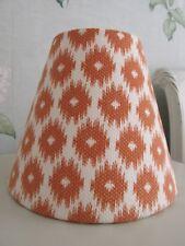 Handmade Coolie Lampshade  20cm Jane Churchill Layla Orange Fabric