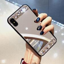 Bling diamante de imitación Espejo Maquillaje TPU nuevo caso cubierta para iPhone 8+ Samsung A50 A70