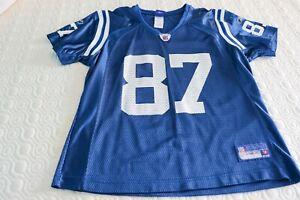 Reebok NFL Equipment Indianapolis Colts Reggie Wayne #87 Jersey Blue Women's L