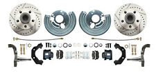 "Mopar Plymouth Cuda Dodge Challenger 12"" Front Drilled & Slotted Disc Brake Kit"
