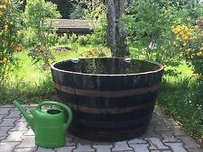 Holzfaß Faß halbiert Eichenfaß Whiskyfaß als Miniteich Wasserfaß Halbfass 330L