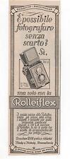 Pubblicità epoca 1932 ROLLEIFLEX CAMERA FOTO advert werbung publicitè reklame