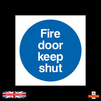 Fire Door Keep Shut Sign - 85mm x 85mm - Self Adhesive Stickers