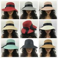 Fashion Women Ladies UV Cap Bucket Bowknots Hats Summer Beach Travel