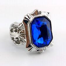 Japanese Anime Black Butler Ciel Phantomhive's Blue Family Ring Big Size