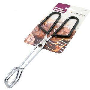 BBQ Serving Tongs Stainless Steel Scissor Style Salad Dining Kitchen Utensil UK