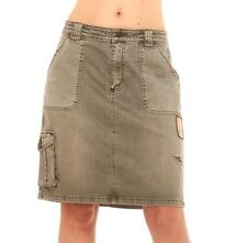 """Women Military Army Fatigue Camo Skirt By Red Jeans NYC waist 34"""""""