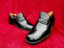 Einmal getragene MORESCHI Loafer-Slipper-RAHMENGENÄHT-43-43,5-Black Series-TOP