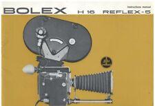 Bolex H 16 Reflex-5 RX-5 Instruction Manual
