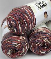 Caron Jumbo Print Yarnspirations Yarn Rusted Purple 12 Oz Skeins Lot Of 3