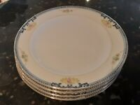 Meito china hand painted - 4 salad plates, 1920-1930s