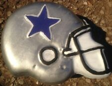 Cowboys star helmet, stepping stone, concrete mold, cement, plaster, mould