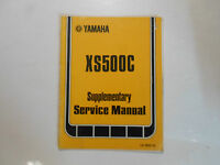 1977 Yamaha XS500C Supplementary Service Manual FACTORY OEM BOOK 77 DAMAGED