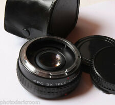 CPC 2x Auto Teleconverter For Canon FD - Japan - Glass Good w/Caps - USED D38