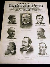 Original Newspaper BEARDLESS ABE LINCOLN Frank Leslie's Illustrated 1889