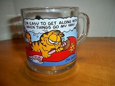 """1978 McDonalds """"I'm easy to get along with"""" Garfield & Odie Glass Coffee Cup/Mug"""