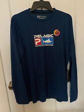 Pelagic Exo-Tech Hoody Performance Long Sleeve Dorado Blue 1015181013 **XL**