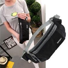 Waterproof Running Belt Bum Waist Pouch Fanny Pack Camping Sport Hiking Black UP