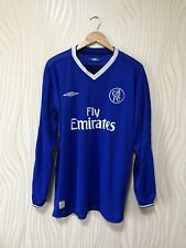 CHELSEA LONDON 2003 2005 HOME FOOTBALL SHIRT SOCCER JERSEY LONG SLEEVE UMBRO