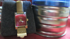1998 Storm LONDON Ladies Watch~Red Face~Watch Case & Band 2 Micron 23K Gld Plate